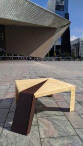 Unieke design salontafel voor station Rotterdam Centraal